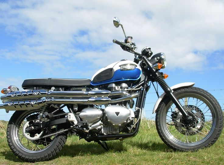 Is it a bird? Is it a plane? No, it's a Triumph Scrambler that doesn't need wings to fly, believe me!