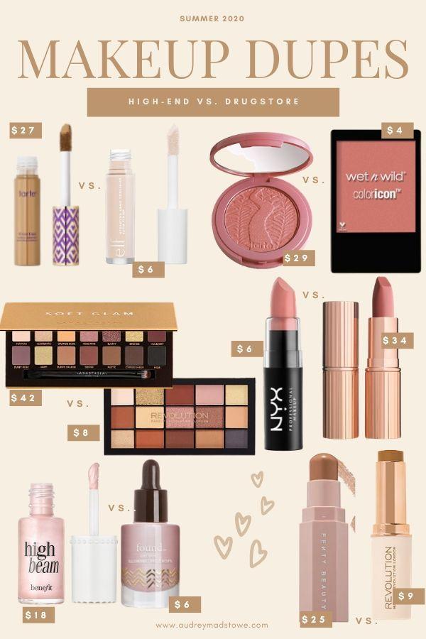 Summer Drugstore Makeup Dupes Audrey Madison Stowe In 2020 Drugstore Makeup Dupes Makeup Dupes Drugstore Makeup