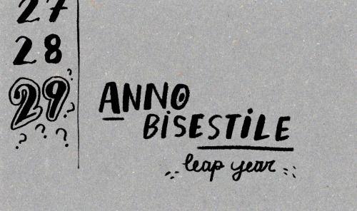ANNO BISESTILE - año bisiesto