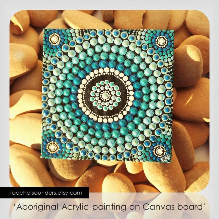 Saltwater water art dot painting aboriginal art small for Small canvas boards