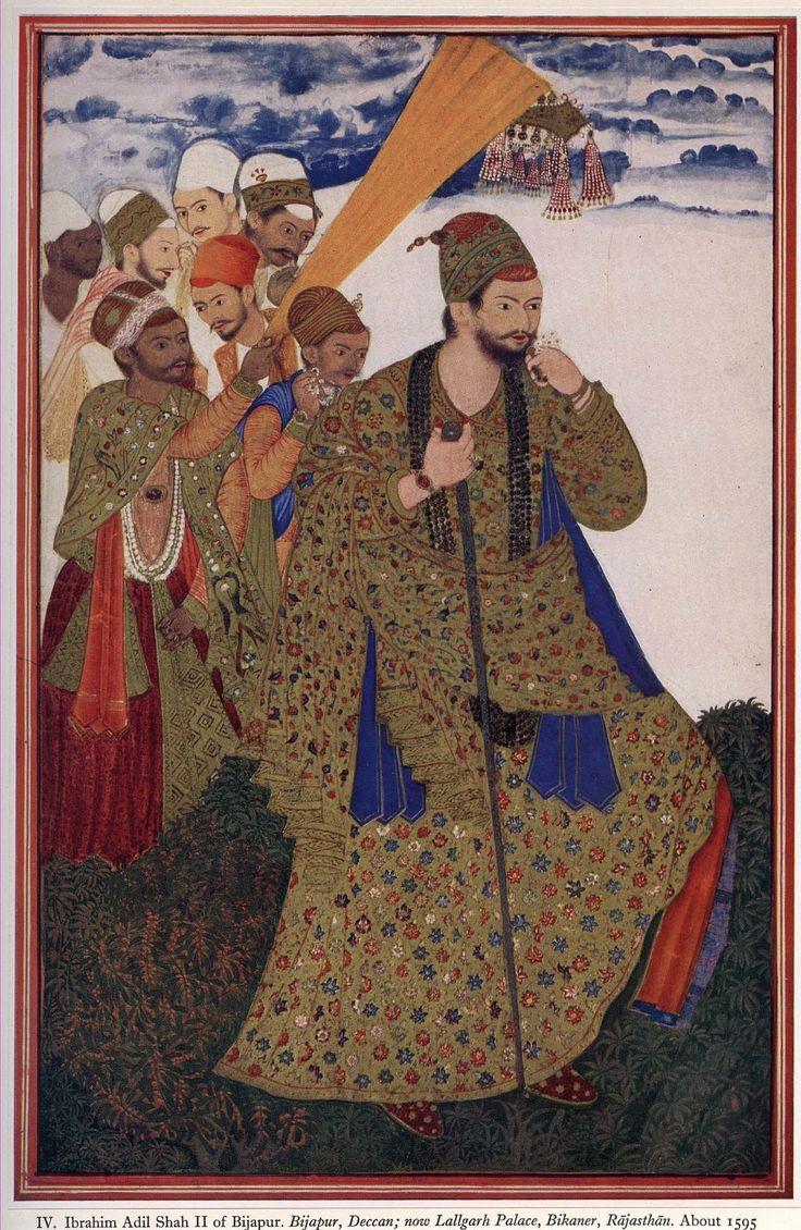 Ibrahim Adil Shah II of Bijapur, Deccan;now Lallgarh Palace, Bikaner, Rajasthan. About 1595.