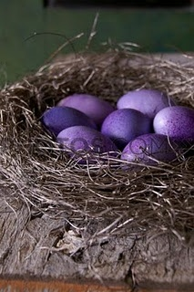 Purple Easter Eggs.  Aronia concentrate is good for you and you can dye easter eggs.