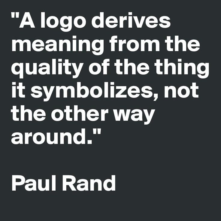 A Paul Rand Logo Quote