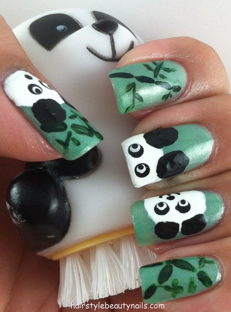 30 best panda nails images on pinterest beauty cooking recipes panda nails art design picture image photo beauty 7 httpwww prinsesfo Image collections