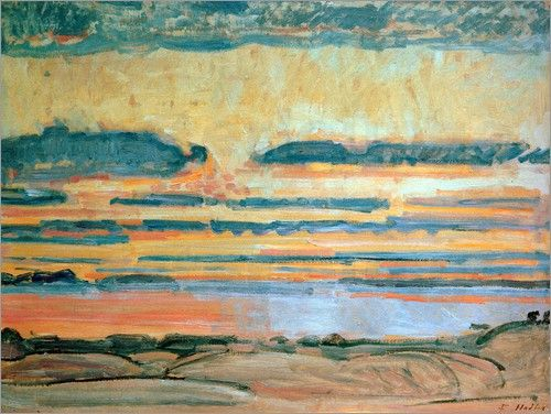 Ferdinand Hodler - Sonnenuntergang am Genfer See