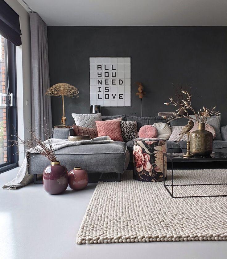 Farbe in Ihrem Interieur – #Interieur #je #color #wohnzimmer