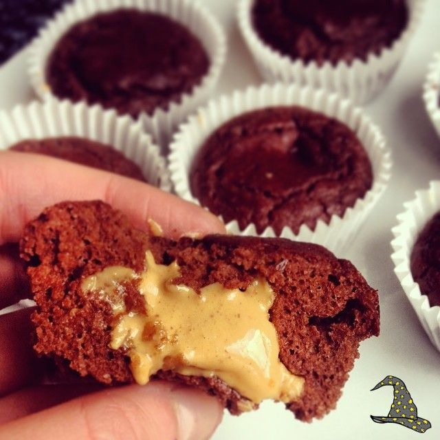 Combine: 1/2 cup chocolate protein powder 1/2 cup flour (I used brown rice flour but you can subsitute this for oat flour and almond flour) 1/4 cup cocoa powder 1 tsp baking powder 170g Greek yoghurt 1 egg 1 egg…