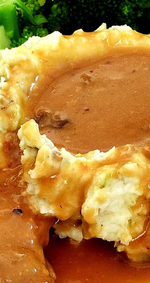 Recipe for Make Ahead Brown Gravy - Scratch made gravy blows away anyting you can buy premade. With a little extra effort, you can make the BEST gravy you ever had...sorry grandma.