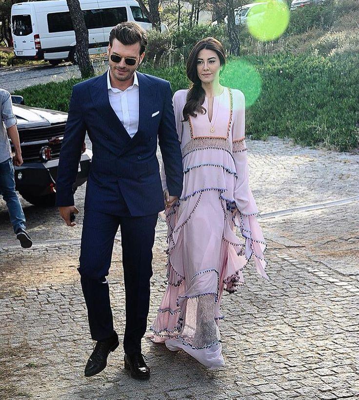 Kıvanç Tatlıtuğ and wife Basak Dizer. Kivanc is a Turkish actor, his wife is a stylish. Basak is Kivanc's stylist in Cesur ve Guzel, the Turkish TV series 2016-2017.