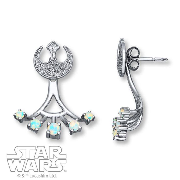 Kay Jewelers x Star Wars Rebel Alliance Opal stud earrings