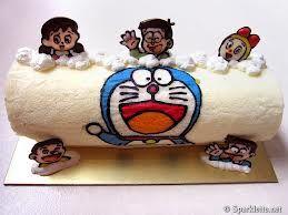 cake roll designs - Doraemon!