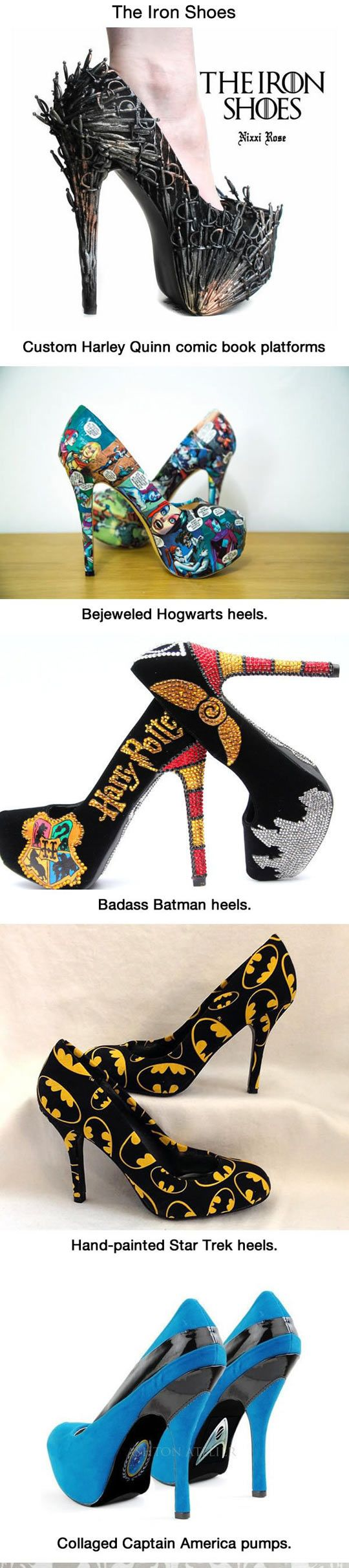 10 awesome high #heels shoes for Geeky girls.