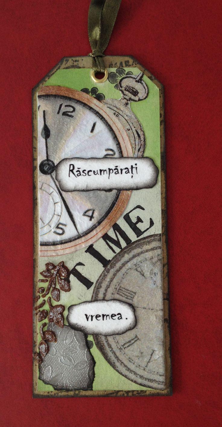 """Semn de carte """"Time"""""""