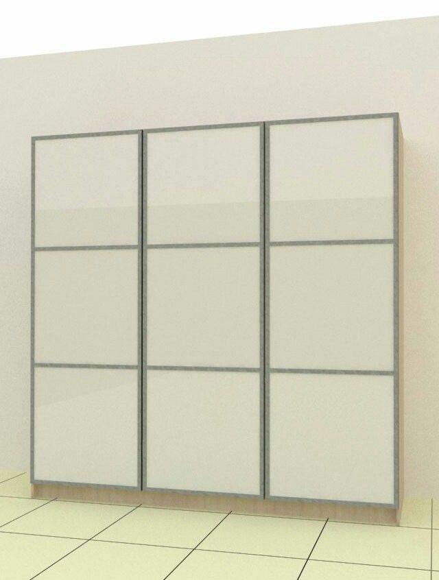 Wardrobe Door with white glass