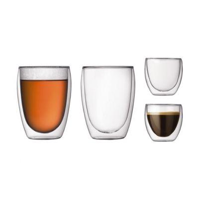 De dubbelwandige glazen van Bodum zijn ideaal voor warme dranken. #koffie #thee #chocolademelk