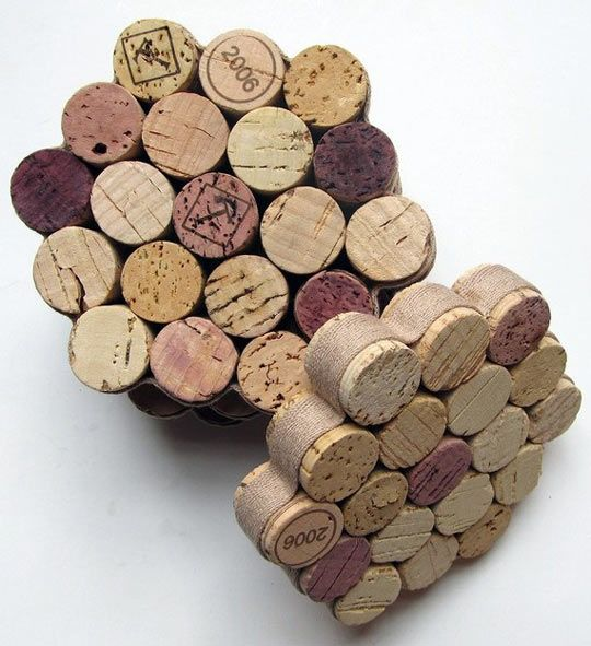 wine cork coasters - love these!