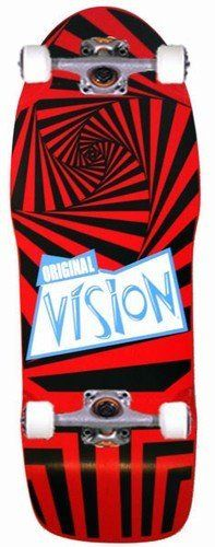 "Vision Skateboards Original Vision Red Complete by VISION. $125.00. Vision Skateboards Gator Hypno Red Complete - 10"" x 30"" - Sweet Old School Board from back in the day. Vision has reproduced the entire line of the old schoolboards. Relive your memories from Gleaming The Cube. It's multi-functional and is used best for street and park skating. It's the Vision Hypno skateboard!!!. Save 17% Off!"