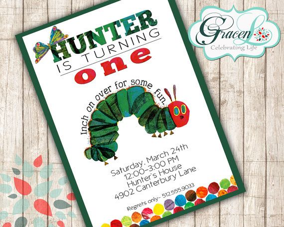 Very Hungry Caterpillar InivitationVery Hungry by GracenLDesigns, $12.00