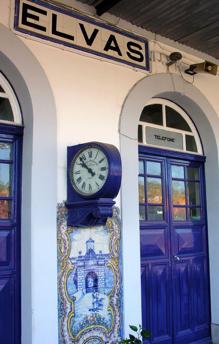 Estação Ferroviária de Elvas, Alentejo | Pormenor dos azulejos