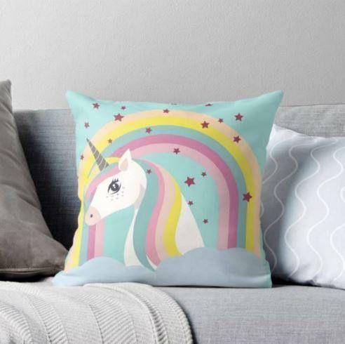 Unicornio cojin unicornio ilustracion unicornio cojines
