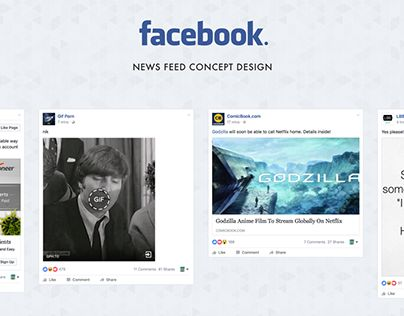 """Check out new work on my @Behance portfolio: """"Facebook News Feed Reimagined"""" http://be.net/gallery/50384081/Facebook-News-Feed-Reimagined"""