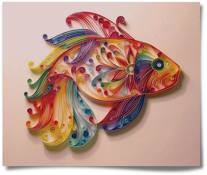 Lo que viene siendo quilling quilling gothic and fish for Paper quilling art projects