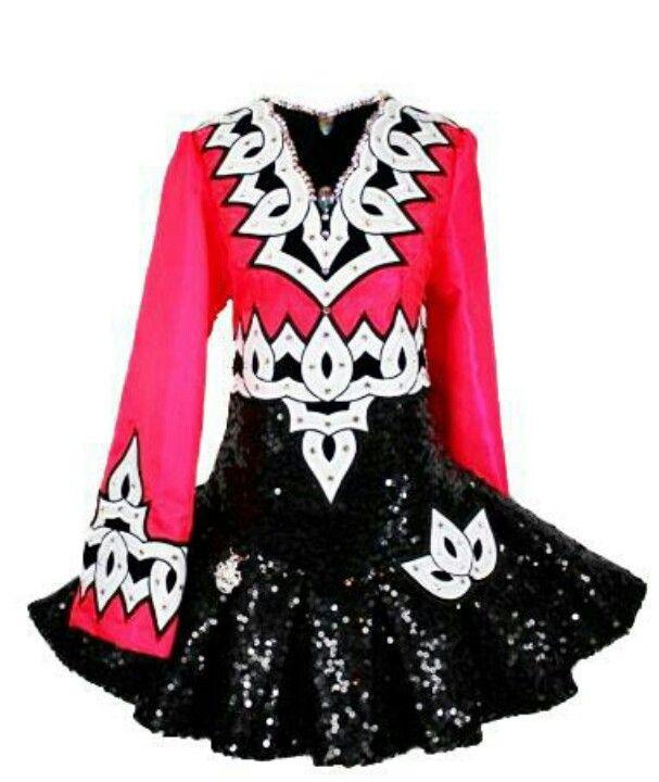 pink black irish dance solo dress by kerry designs - Irish Dancer Halloween Costume