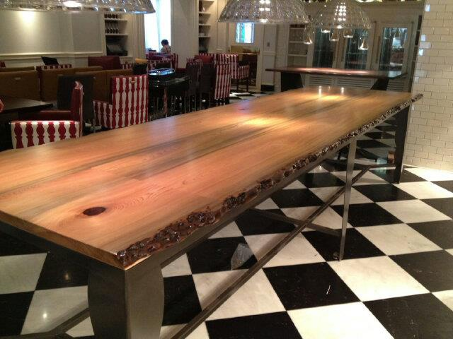 Expo Kitchen Table at Restaurant R'evolution. Made from reclaimed sinker  cypress wood buried - 21 Best Reclaimed Wood Restaurant Table Images On Pinterest