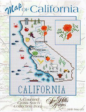California Map - Cross Stitch Pattern