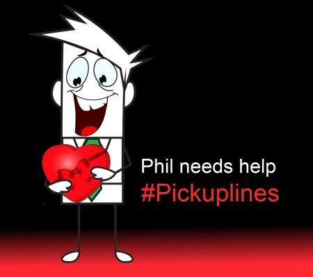 Help Phil come up with some #Pickuplines for #valentinesday  Leave your best, corniest, lamest and bravest pickup lines www.facebook.com/phonefindersa