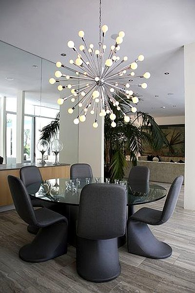 iluminación para comedores con lámparas elegantes