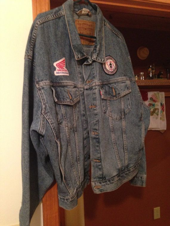 Vintage Levi Strauss Bikers Jacket, Size L, Honda Riders Club of America