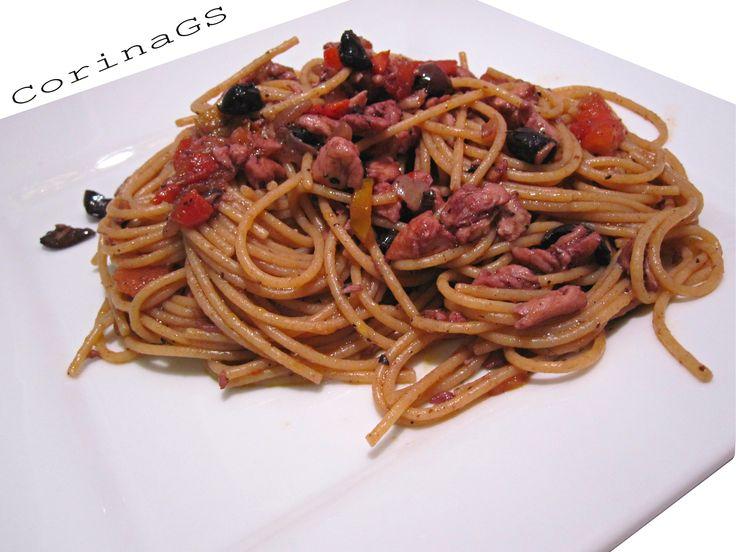 Spaghetti+integrali+con+sugo+di+orata