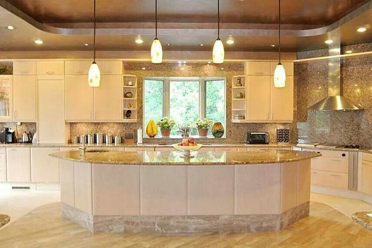 Nice big kitchen for the home pinterest kitchens and for Kitchen designs big