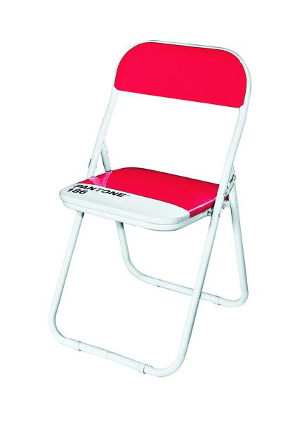 Pantone 186 Ruby Red Metal Folding Chair (Set of 6) by Seletti