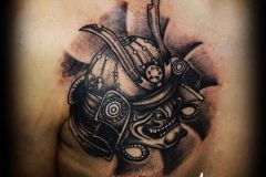 A Japanese style with a tattoo head created by Acanomuta Tattoo Studio. Perfect Tattoo ideas for japanese tattoo lovers