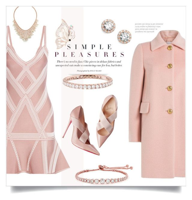 """""""#255) So Pretty: ROSE GOLD JEWELRIES"""" by fashion-unit ❤ liked on Polyvore featuring Hervé Léger, RED Valentino, CARAT* London, BERRICLE, Nordstrom, Blue Nile, Kim Rogers and rosegold"""