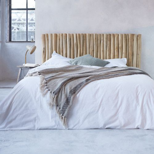Driftwood bead headboard - River design bed headrest - Tikamoon