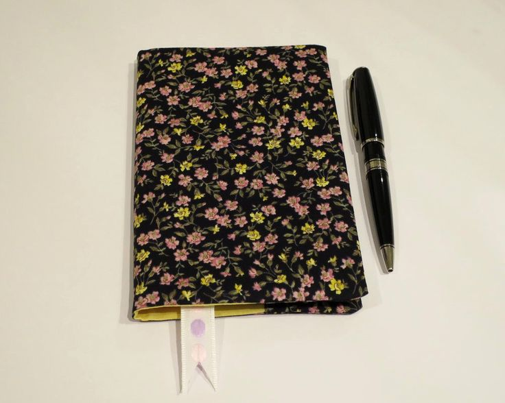 Fabric Book Cover with Bookmark, Suits A6 Notebook, Bonus Notebook Included, Pink & Yellow Floral Cotton Fabric, Handbag Book, Gift Idea by JadoreBooks on Etsy https://www.etsy.com/listing/262215765/fabric-book-cover-with-bookmark-suits-a6