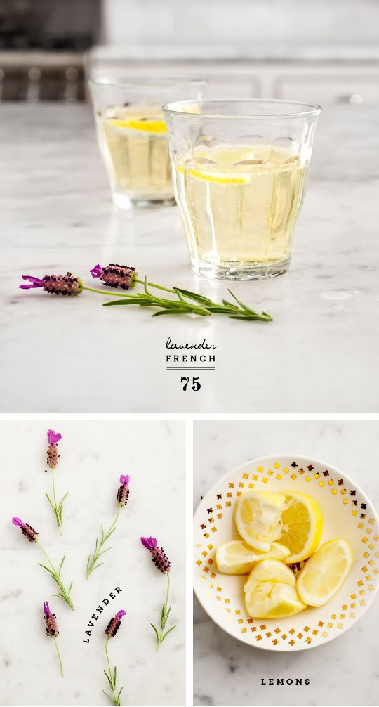 Favorite Cocktail : lavender syrup + champagne + squeeze of lemon // Love and Lemons