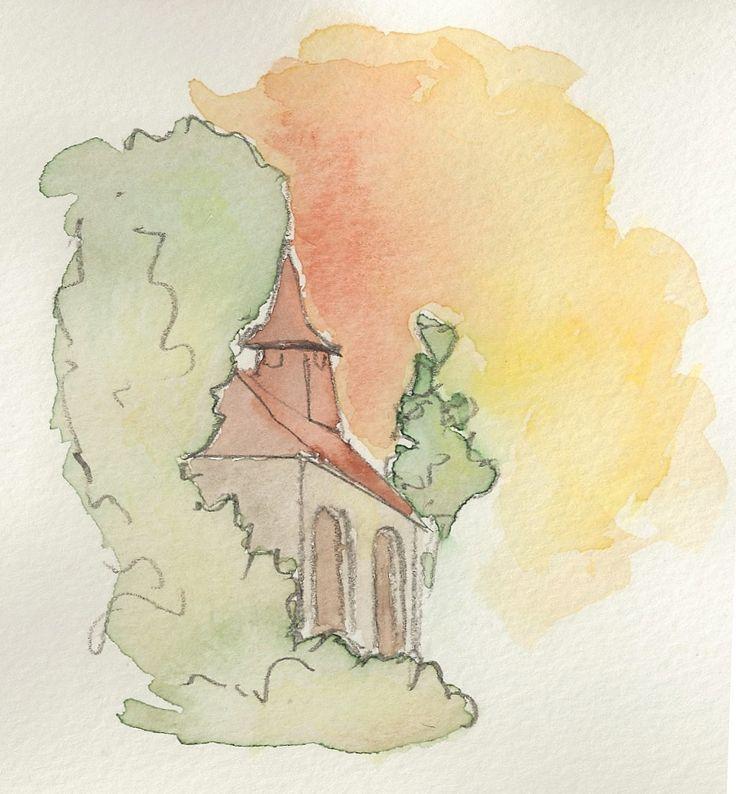 Paysage crayon aquarelle facile google zoeken dessin - Dessin peinture facile ...