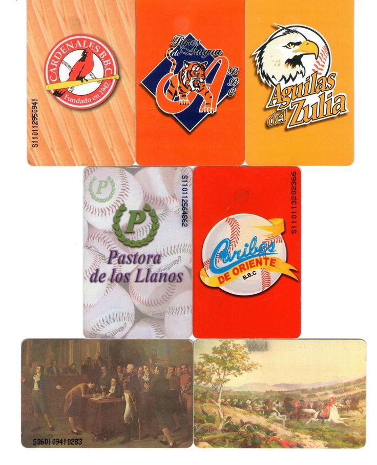 7 Phonecard / Tarjeta Telefonicas Venezuela Cantv  Beisbol Vzla Fechas patrias
