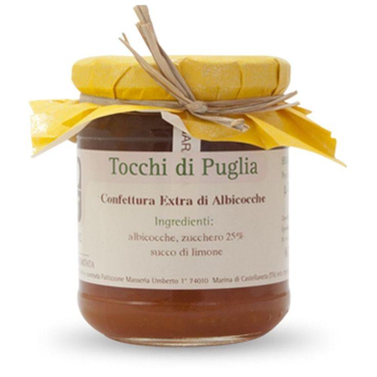 CONFETTURA EXTRA DI ALBICOCCHE GR 260 TOCCHI DI PUGLIA  (070889)