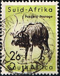 South Africa 1959 Wild Animals SG 176 Nyala    Fine Used    SG 176 Scott 227    Condition  Fine Used    Only one post charge applied on multipule