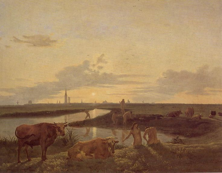 Hendrick ten Oever (1639 – 1716). View of Zwolle. Oil on canvas, 66.7 x 87 cm. The University of Edinburgh Fine Art Collection. [Pinned 10-ii-2015]