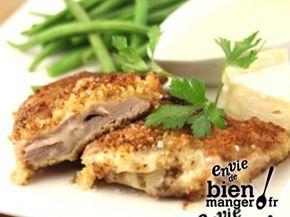 Escalope panée et sa sauce Camembert de Campagne
