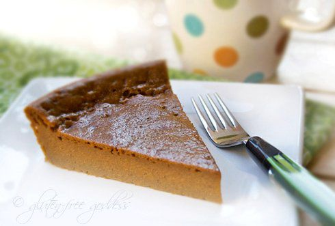 Easy, no-crust sweet potato pie - #vegan and #glutenfree