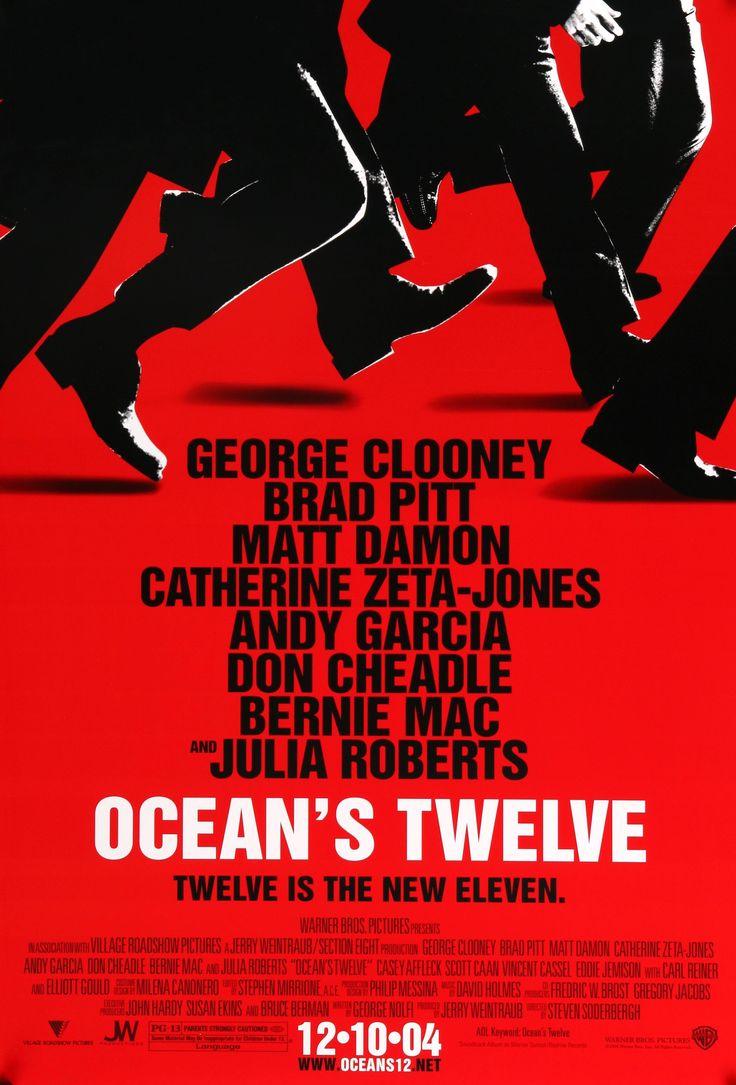 """Ocean's Twelve (2004) Vintage Movie Poster - 27"""" x 40"""""""