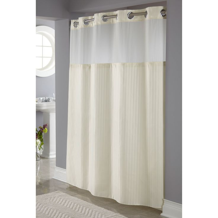 Hookless Shower Curtain Snap Liner Extra Long