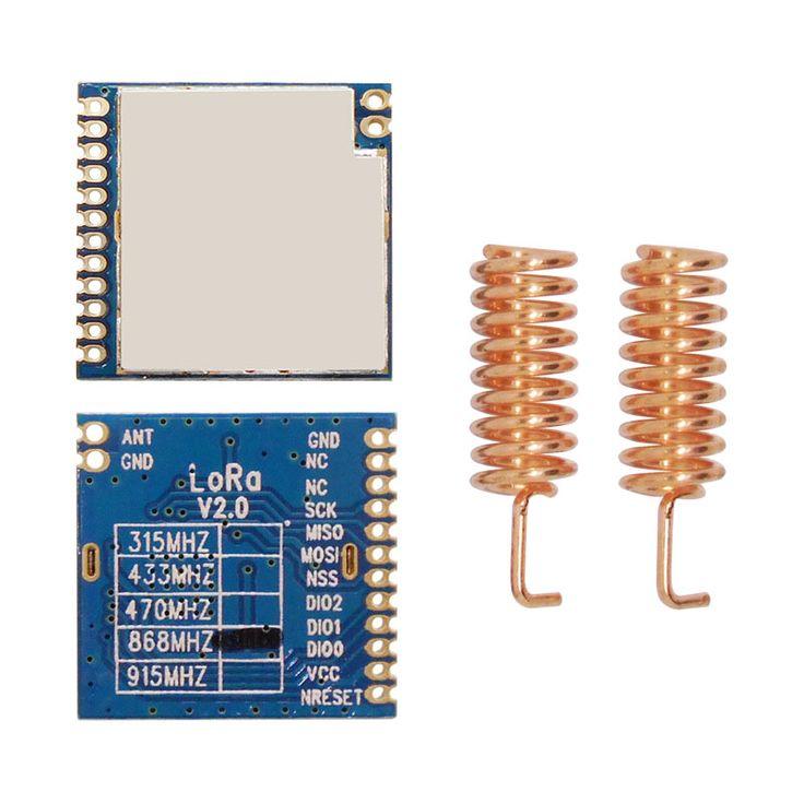 2 יח'\חבילה 868 MHz | 915 MHz שבב sx1276 RF אלחוטי ארוך טווח 4Km 100 mW מודול LoRa1276 לורה